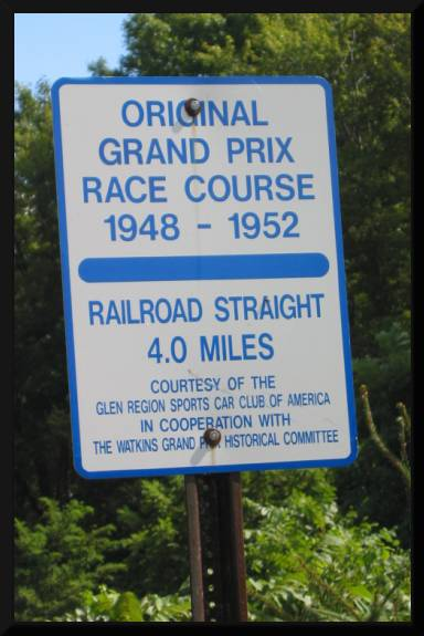 Signs announcing race history (c) 2004 David Coyote