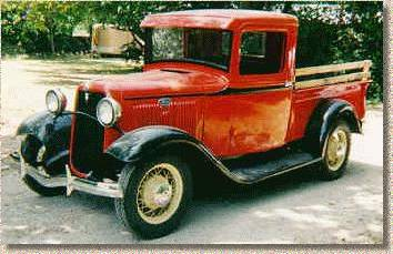 '34 Red Ford Pick-up Truck (c) 2005 David Coyote